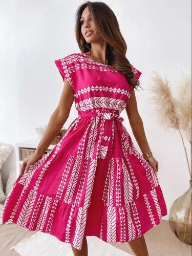 Printed Irregular Beach Spring Summer Clothes Dress For Women'S Vetement Femme 2021 Sukienka Sundress Vintage Casual Dress