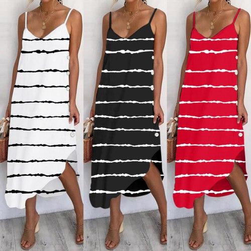Plus Size Gradient Leisure Dress For Women Low Cut Dresses Irregular Loose Elegant Dress Party Prom Tie-dye Beach Style платье