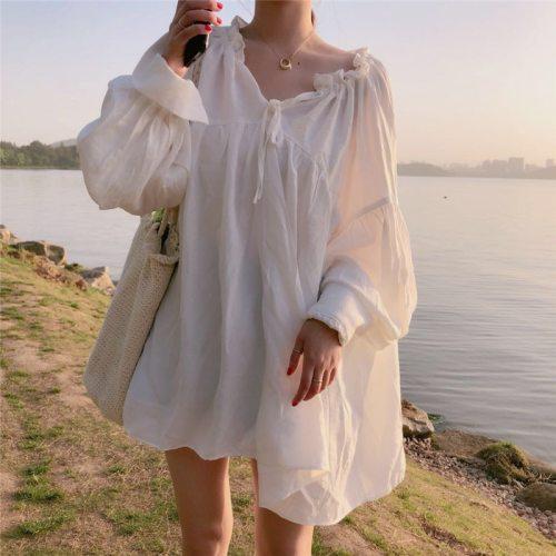 2021 Autumn New Arrival Sweet And Loose Temperament V Neck Long Sleeve Shirt Women Slim Sunscreen Blusas Femininas