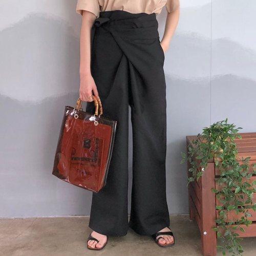 2021 Spring New Vintage Office Of Ladies Elegant Korean Black Pants Loose Women Games Large Pants To Life High Plains QZ359