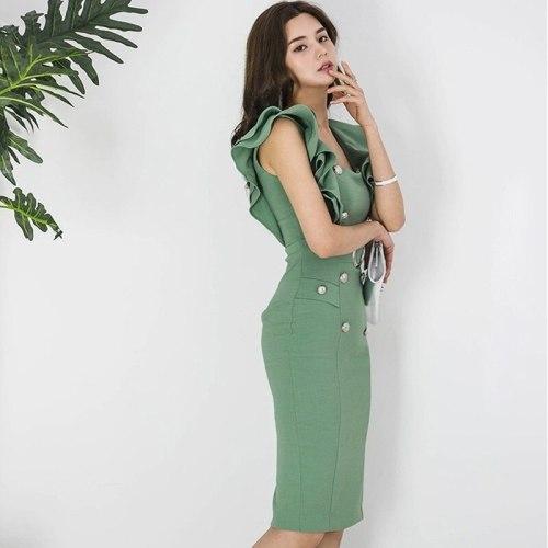 Pinafore Dress Women Casual Sundress Business Dress For Women Office South Korea Clothing Female Social Dress TA619