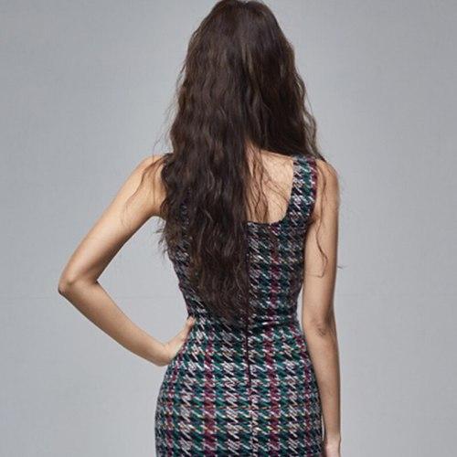 Sexy Sleeveless Print Dress Womens Summer Korean Style Pencil Bodycon Dresses Vintage Elegant Slim Sheath Vestidos