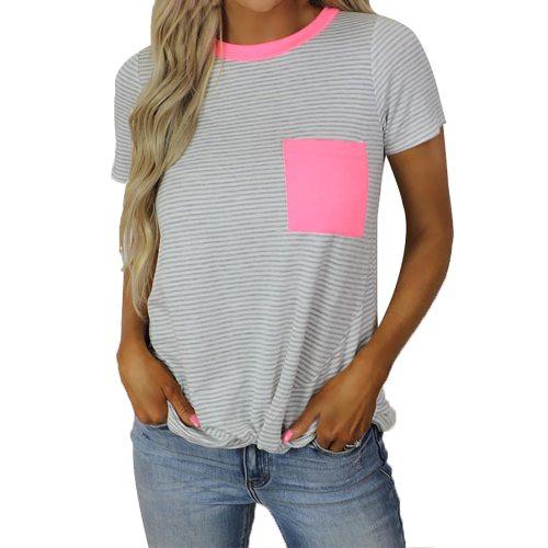 T-Shirt For Women Plus Size Sexy Leopard Print Shirt Short Sleeve Pocket T-Shirt Tops Women Clothing camisetas de mujer футболка