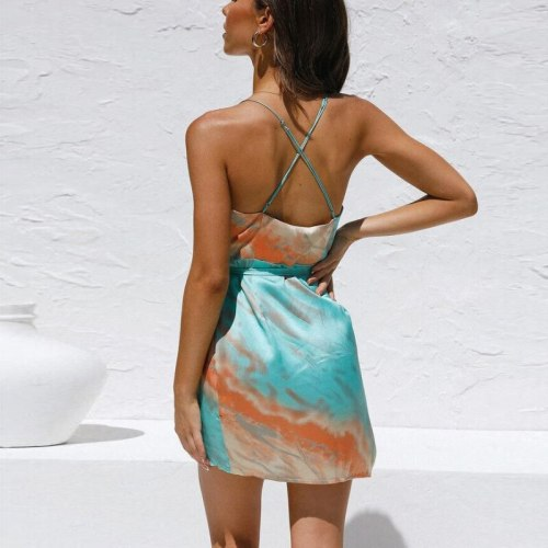Sexy Suspender Skirt Women Outfit 2021 Summer New Sleeveless Short Skirt Home Service Halter V-Neck Tank Tops Mini Beach Skirt