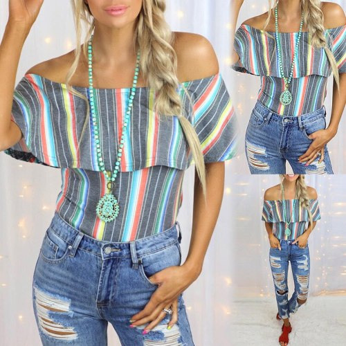 Women's Urban Casual Stripes Contrast Color Tie-Dye Printed Pullover Slim T-shirt Sexy Sleeveless Sleeve Neck Loose Top T-shirt