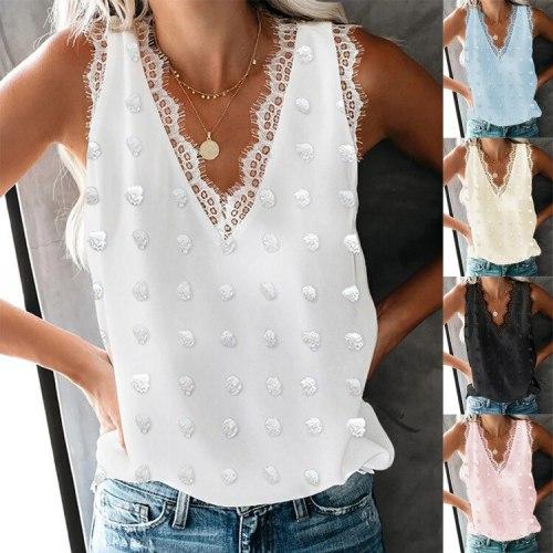 New Summer Women Casual Vest Tank Sleeveless Shirts Tops Tees Blouses Plus Sizes Boho Elegant