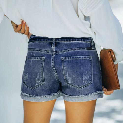 Fashion Shorts Women Pocket Jeans Female Bottom Short Femme Sexy Casual Holliw Sexy Denim Shorts 2021