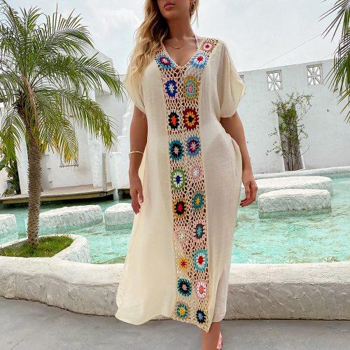 Women Beach Dress Cover-Ups Swimsuit Beachwear Bathing Suit Swim Cape For Woman Summer Tunic Saida Praia