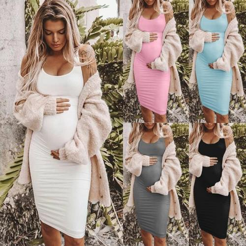 Women Summer Casual Striped Maternity Dress Short Sleeve Knee Length Pregnancy Dresses Clothes Pleated Baby Shower Dress