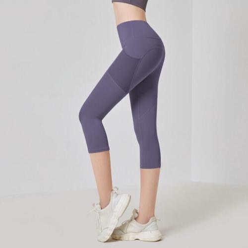 Women Push Up Mesh Pocket Leggings High Waist Yoga Shorts Fitness Hip Jogging Running Tights