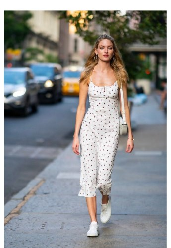 Summer Boho Red Strawberry Floral Print Spaghetti Strap Dress Women White Elegant Sleeveless Sexy Beach Party Long Dresses 2021
