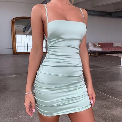 Dress accessory mall brandy vestido Spaghetti Strap Mini Sexy Cross Bandage Party Dress