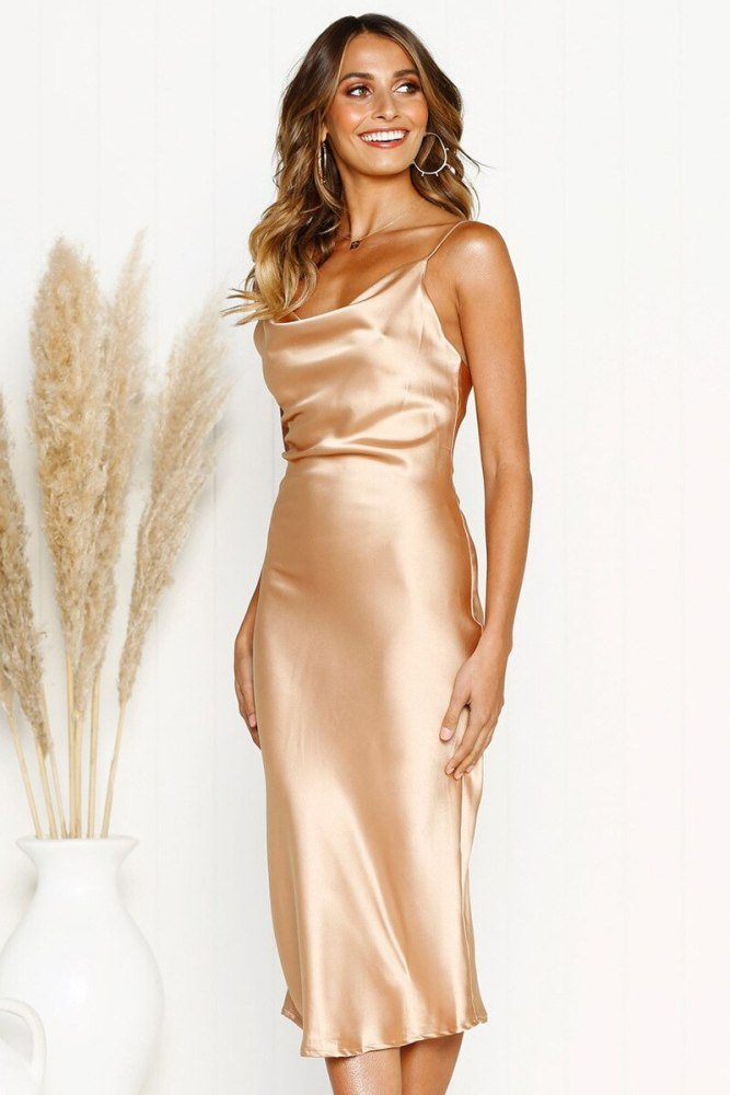 Hot Selling Dot Gold Leopard Dress Elegant Print Summer Dress 2021 Sexy Slash Neck With Straps Split Robe Femme Party Dresses