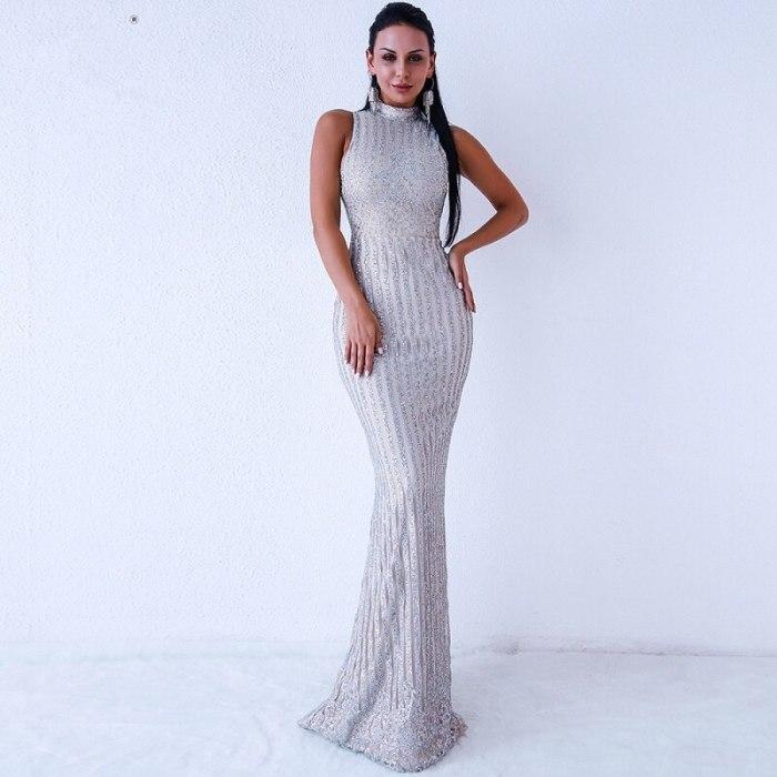 Long Dress Women Elegant Celebrity Fashion Party Dress Sexy Night Club Bodycon Vintage Dress