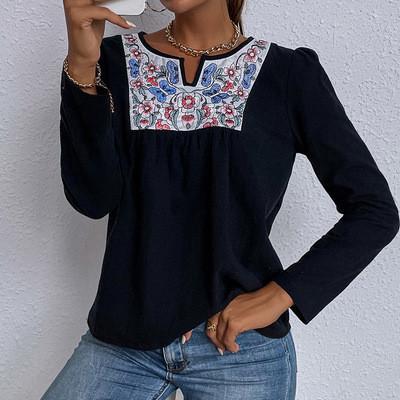 2021 Autumn New Women T Shirt Sleeve Loose Casual Fashion Long Sleeve FemaleTop