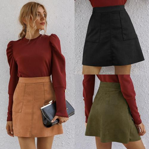 Women Summer A-Line Sexy Mini Skirt High Waist Solid Color Slim-Fit Pocket Fasion Skirts Streetwear Women's Clothing