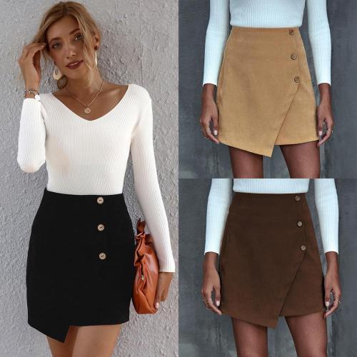 Women High Waist Solid Color  Mini Skirt 2020 Autumn Female Fashion  Slim  A-Line Above Knee  Female Short Skirt