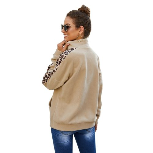 2021 Autumn Winter Leopard Vintage Pullovers Sweatshirt Women Long Sleeve Plus Size Fashion Pullover Tops Woman Warm Sweatshirts