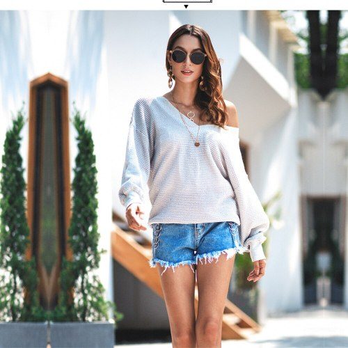 Ladies Autumn Winter Sweater Women Tops Solid V Neck Casual Jumper Knitted Loose Pullover Women Sweaters Female Pull Knitwear