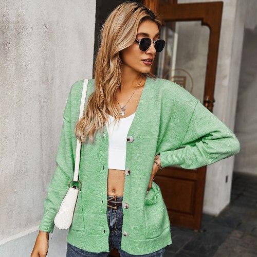 Knitwear 2021 Solid Pockets Knit Jackets Streetwear Thick Knitted Cardigan Mujer Thermal Crochet Coat Long Sleeve Knitting Shirt