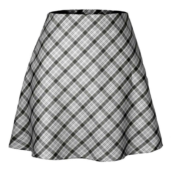 Plaid Mini Skirt Women Y2k Retro A-Line Skirts Casual E-Girl 2000s Harajuku Aesthetic High Waist Skinny Streetwear Bodycon Skirt