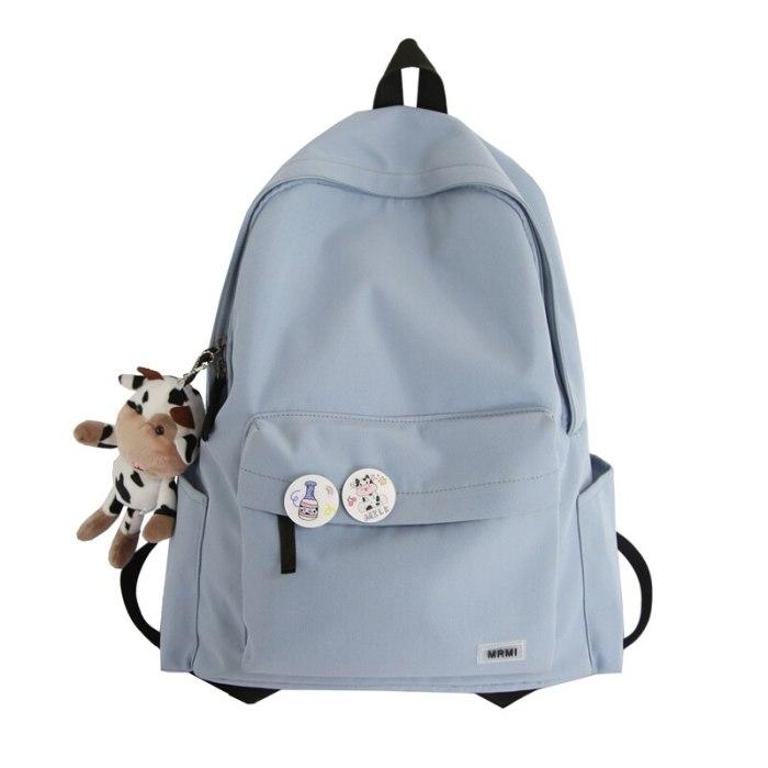 Simple Nylon Women Rucksack Female Travel Double Shoulder Backpack School Bag for Teenager Girls Boys College Mochila New 2021