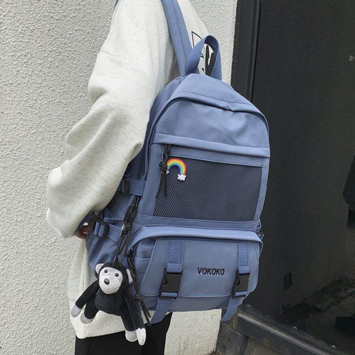 Fashion Waterproof Nylon Women Backpack For Girls Travel High Capacity Student BookBag Men Black Laptop Bag