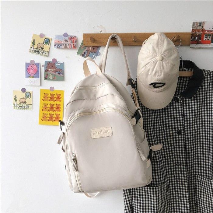 Large-capacity school bag female Korean version of simple shoulder bag tide brand fashion high school student backpack
