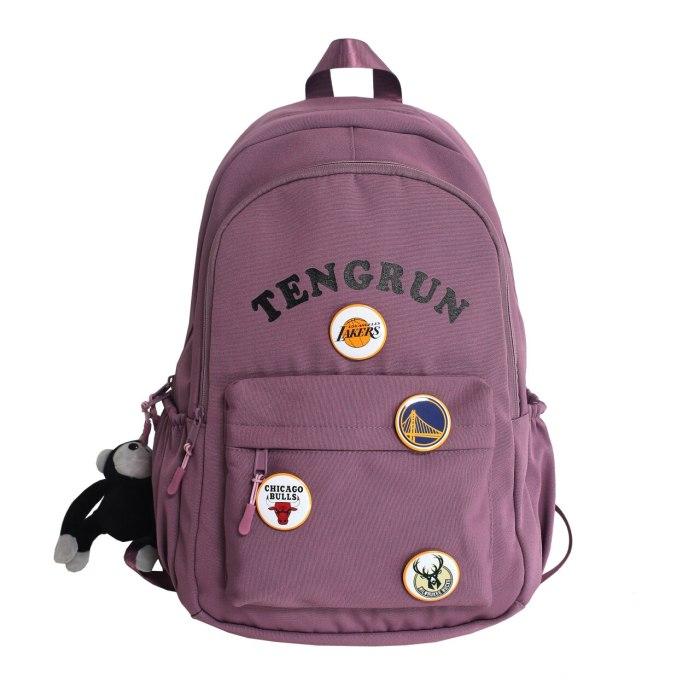 2021 New Nylon Women Backpack Girl Schoolbag Student Book Bag For Teenager Daily Outdoor Travel Back Pack Female