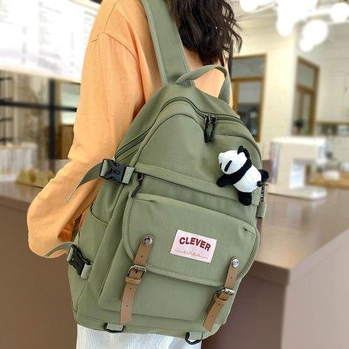 College Student Female Backpack Travel Fashion Women School Bag Book Ladies New Backpack Girl Laptop Waterproof Nylon Bag Kawaii