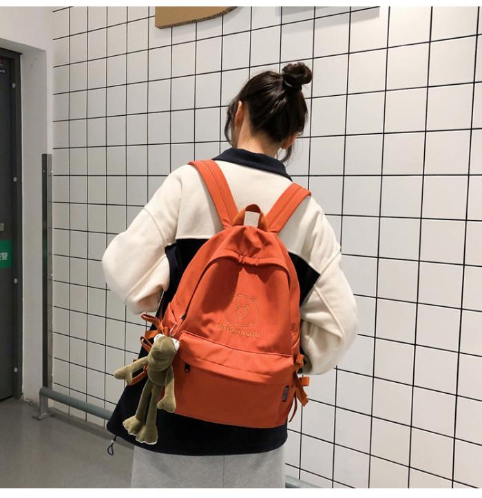 School Bags For Cute Girls Casual Shoulder Bag Bow Design Women Travel Backpack College Style Student Bookbag Harajuku Backpack