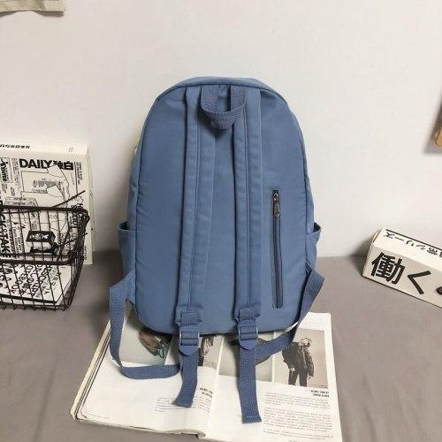Fashion 2021 Boy Buckle Laptop School Bag Backpacks For Teenage Girls Female Unisex Nylon Women Waterproof Book Bags Student Men