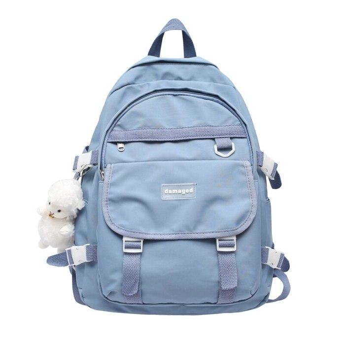College Backpack Laptop Travel For Teenage Girls Buckle Women Casual Female Student Book Bags Nylon Ladies Unisex School Bag