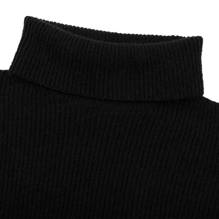 Turtleneck Winter Kintted Sweater Dress Women Black Beige Blue Casual Dresses Plus Size Vestidos