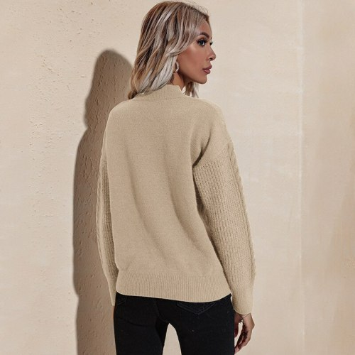 2021 Autumn and Winter New Sweater Women's Knitted Jacket Pullover Sweater for Women  Fashion Sweater