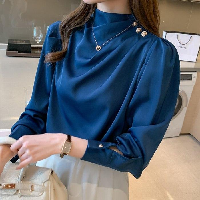 Spring and Autumn new chiffon shirt korean fashion long sleeve chiffon blouse casual clothing women tops
