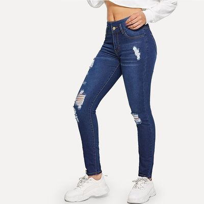New in Dark Blue Bodycon Jeans