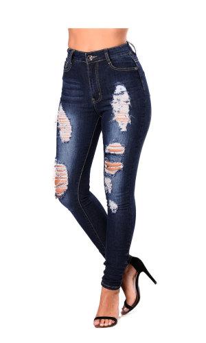 Ebuytide New Arrival Women's Dark Blue Jeans