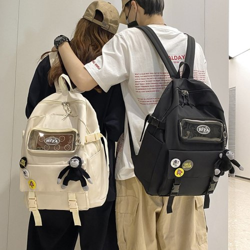 Children Transparent Backpack Women Kawaii Waterproof School Bags for Teenagers Female Japanese Lightweight Travel Backpacks New