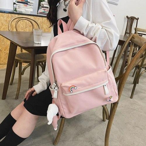 Girls School Backpack Cute Girls Casual Fashion Backpack Korean Style Small Fresh Cute Soft Girl School Bag
