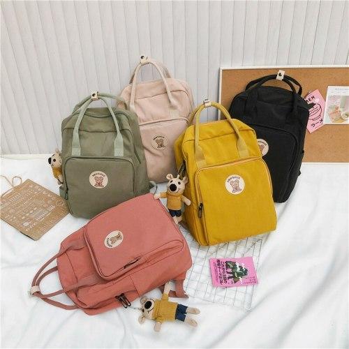 2021 girl backpack large capacity backpack ladies shoulder bag simple student school bag male and female student backpack