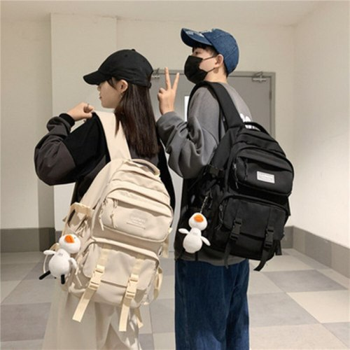 Large Capacity Nylon Male Female Backpack Hot Sales Women Travel Bagpack Couple Laptop Bookbag Solid Color School Men Rucksack