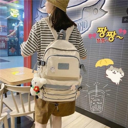 Large Capacity Backpack Women School Bag For Teens Female Backpack Nylon Waterproof Female Bag Kawaii Girl Travel Bag
