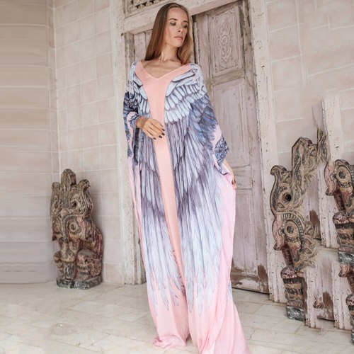 Chiffon Beach Dress Long Loose Plus Size Beach Cover Up Women Bikini Cover Up 2021 New Holiday Skirt Swimsuit Cover Up Robe Lady