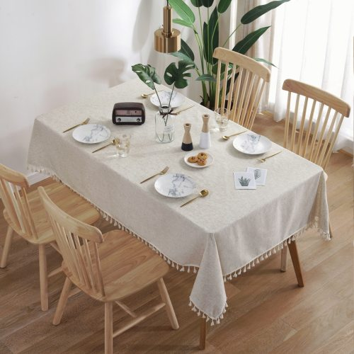 Linen Tablecloth Lace Rectangular Table Cloth Coffee for Living Room Table Cover Mat Furniture Home Decorative