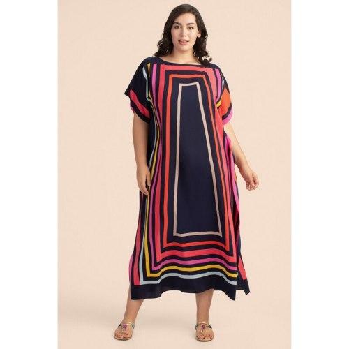 2021 Boho Dress Robe de Plage Beach Cover up Pareos Kaftan Women Maxi Dress Swimsuit Cover up Sarong Beachwear Tunic for Beach