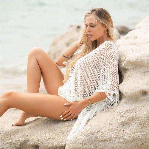2021 Beach Cover up Summer White Beach Sarong Bikini Cover up Bathing Suit Women Beachwear Swimsuit Cover up Pareo Tunic