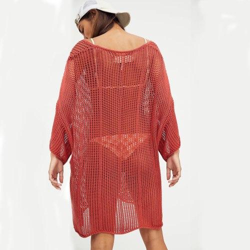Crochet Skirt Beach Dress Plus Size Summer Dress See Through Swimsuit Cover Up Woman Dress Vacation Outfits Summer Beach