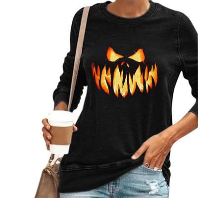 2021 Halloween Style Women's T-Shirts Women's Top Long Sleeve Tops