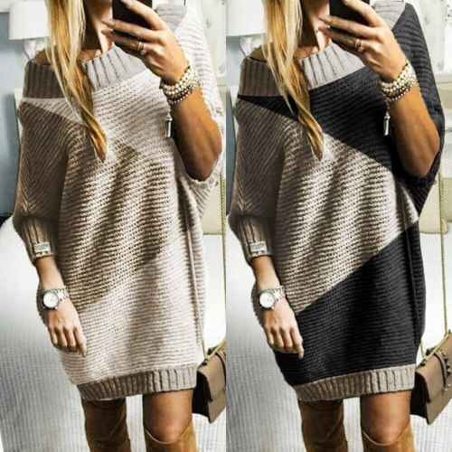 Knitted Dresses Women Clothes for 2021 Newest Autumn and Winter Irregular Sweater Top Bag Hip Women Warm Knit Dresses